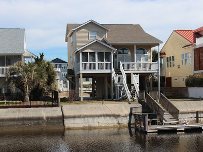 Photo for #1Value at OIB- Leland 5br/4ba Canal Waterfront private Dock;350 yds to the beac