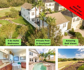 Photo for Private Courtyard Pool- Mother-In-Law Apt. Stunning Golf Course Views