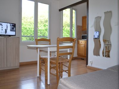 Photo for Studio in the heart of Amelie 100 m from the thermal baths with parking