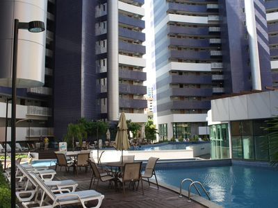 Photo for Beautiful flat 18th floor in the best location of Praia de Iracema + Balcony w / screen
