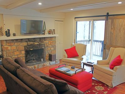 Photo for Recently updated condo w/access to ski slopes, private balcony & stone fireplace