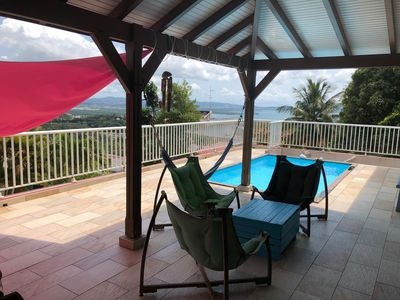Photo for Beautiful villa 4CH SEA VIEW, swimming pool and CAR INCLUDED!