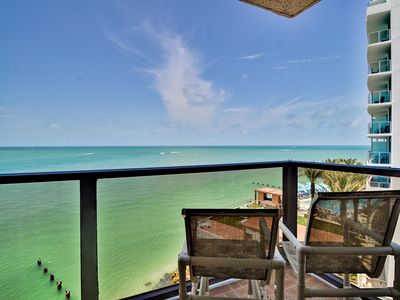 Relax on the balcony and take in the water view.