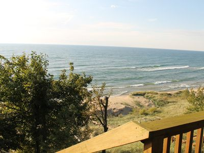 Photo for 4 Bedroom, 3.5 Bathroom Lake House, Private Lake Michigan Beach, Sleeps 8