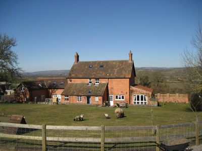 Sticklinch Farm and cottage with views of the Mendip hills