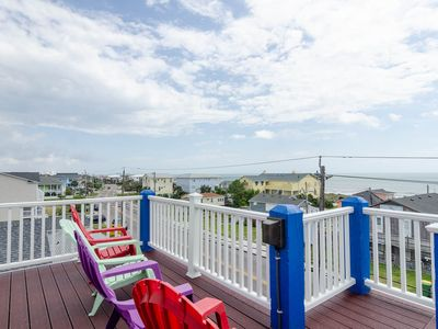 Photo for Amazing ocean views from this duplex with sun bathing rooftop deck