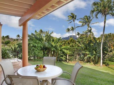 Photo for Poipu Ground Floor Garden View Easy Pool Access *Makanui 512*
