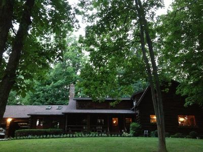 Photo for Spacious Log Home Overlooking Canandaigua Lake!  Pet Friendly, Sleeps 12