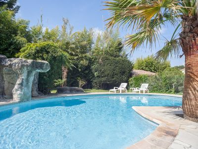 Photo for Beautiful villa with AC,  pool, boule and mountain view