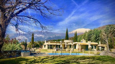 Photo for Castlelike Finca Villa ktima-aspilon in Drama on own hill, own forest and lake