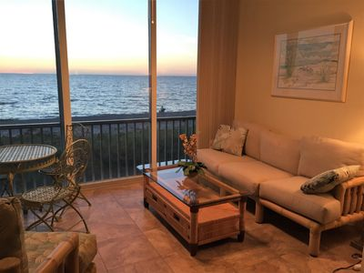 Photo for Paradisel 2 Bedroom Gulf/Beach Front Condo, Remodeled, Sunset on Siesta Keys