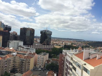 Photo for High- Floor Sunny 3 Br Apartment With 360 Degree View To Lisbon And Its River