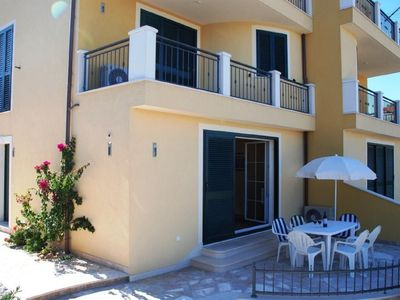 Photo for 2 Lovely Ground floor Apts with Private Terraces, in Quiet Area, 400m to Beach