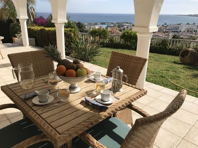 Photo for Beautiful private villa, magnificent sea and mountain views, saltwater pool