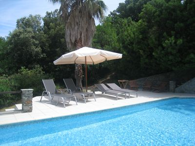 Photo for Villa 300 M2, Swimming pool, close to the beach on foot, Saint-Florent, Haute Corse