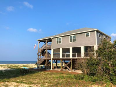 Photo for 5 BR Gulf Front! Views! HUGE screen rm w/ OUTDOOR KITCHEN!, firepit, beach gear!