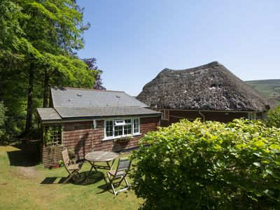 Photo for TAWCROFT COTTAGE, romantic, with a garden in Belstone, Ref 975737