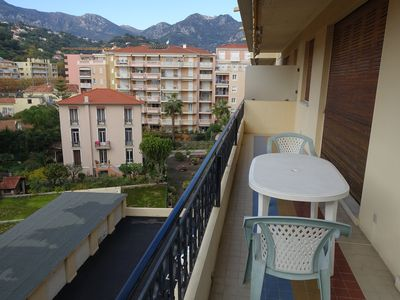 Photo for 2 CHARMING ROOMS WITH TERRACE AND PARKING- MENTON TOWN CENTER