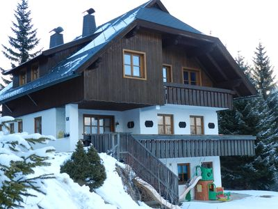 Photo for Large mountain Chalet for big families in front of the Nockalmbahn lifts,