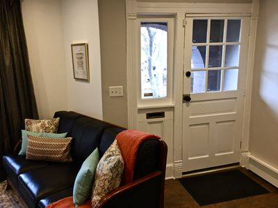 Private entrance to first floor apartment.