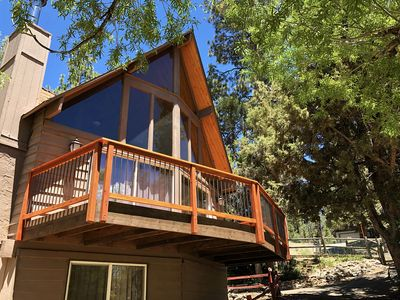 Photo for Private Cabin w/Fireplace, Pool Table, and Large Fenced-in Yard. Dog-Friendly!