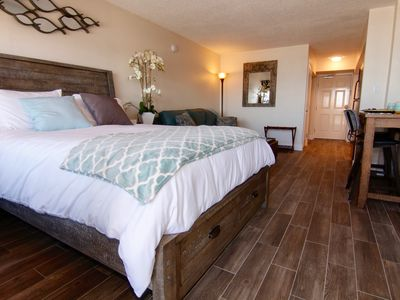 Photo for ❤️ Cozy Couples Getaway ❤️ Beachfront Studio w/ Private Balcony in Pirates Cove