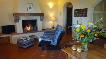 Siena: independent apartment in a farmhouse with a large garden and fireplace
