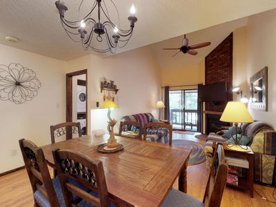 Photo for NEW LISTING! Walk to ski lifts from condo- fish, raft & mt bike in summer