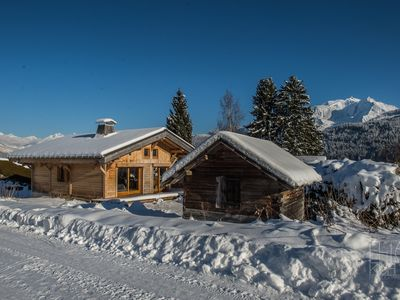 Photo for Chalet facing Mont Blanc and Mont Joly 6 to 8 people