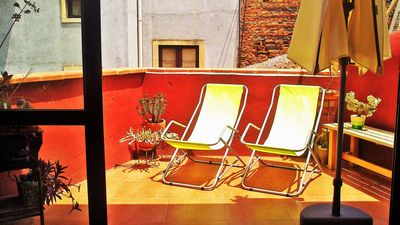 Photo for Quiet apartment with a terrace and a view of Mount Etna