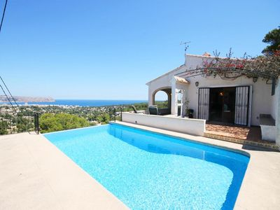 Photo for 4 bedroom Villa, sleeps 8 in Javea with Pool, Air Con and WiFi