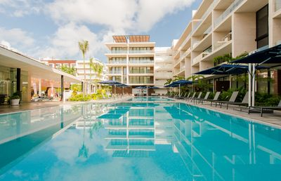 Photo for OCEANA - Luxury, NEW 2-bdr condo, steps from the beach!