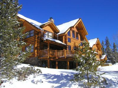 Photo for Eco Friendly Luxury Log Vacation House 6 BR W/3 Master Suites All Amenities