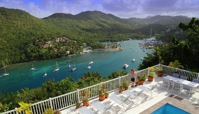Photo for WOW... WHAT A VIEW!!! The Villa On The Bay Overlooking Marigot Bay