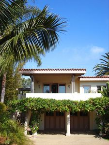 Casita surrounded by Palms and Plumeria.