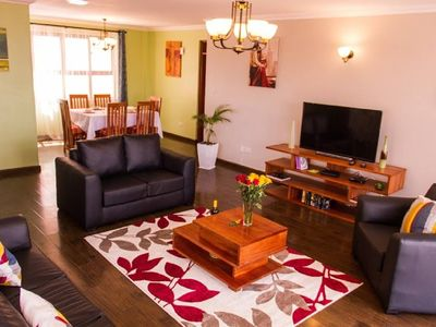 Photo for Stay in a Lovely Decorated 3 BedR Apartment Suite in the Heart of Nairobi