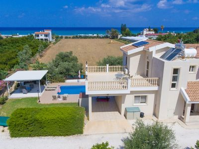Photo for Villa Rose: Large Private Pool, Walk to Beach, Sea Views, A/C, WiFi