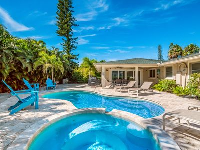 Photo for Bay Será: Immaculate Ground Level Home w/ Heated Pool & Hot Tub, Close to Beach