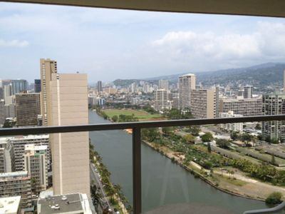 Photo for NEW LISTING! High-rise studio with kitchenette, ocean views, shared pool/hot tub