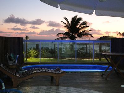 Photo for Private pool with view of the sea of ondina