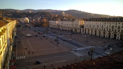Photo for Newly renovated studio with stunning views of Piazza Vittorio