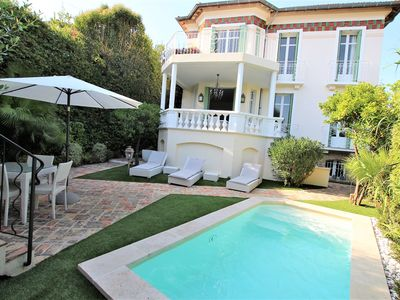 Photo for Superb French Belle Epoque style villa located in the center of Cannes