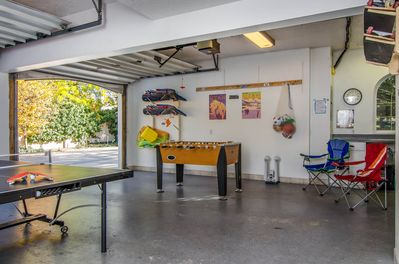 Pingpong, Foosball and so much more available in the main house garage