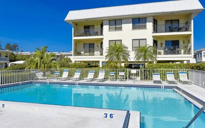 Photo for The Anna Maria Island Beach View 208-Private Beach Access-Heated Pool-Two Balconies-Twelve Restaurants With In A Few Minutes Walk