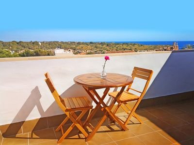 Photo for Penthouse 2 Adults, Free wifi, terrace with sea view, best beaches in Mallorca