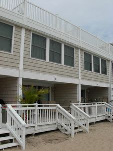 Photo for Spacious Beachfront Townhouse - step from front deck onto sand!