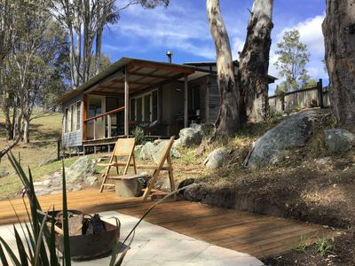 Photo for Cabin amongst the trees. Near to beaches and shops. Dog and horse friendly