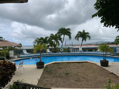 Photo for Island Condo with views, AC and secured. Close to downtown and beach.