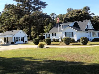Photo for The Waterfield Place is a lovely 8 person home on 5 acres near the Outer Banks.