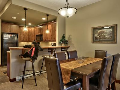 Photo for Spacious 2 bedroom + den townhouse, close to the Morrisey ski lift